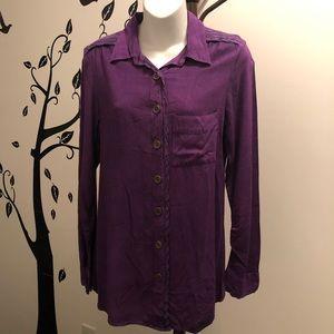 Studio West Apparel Eggplant Button Up Shirt